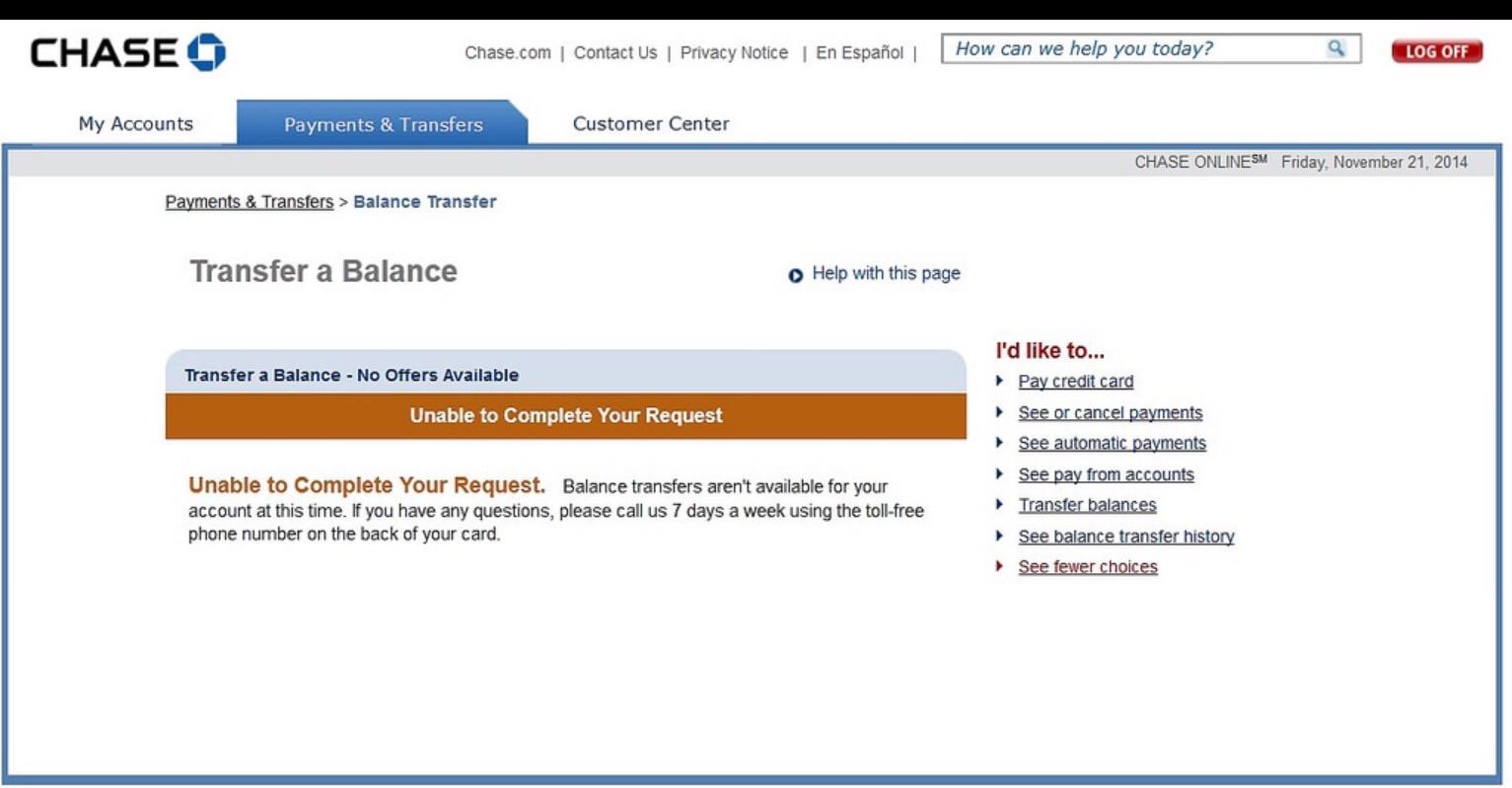 Chase Slate/Amazon non-promo balance transfer DENI... - Page 2 ...