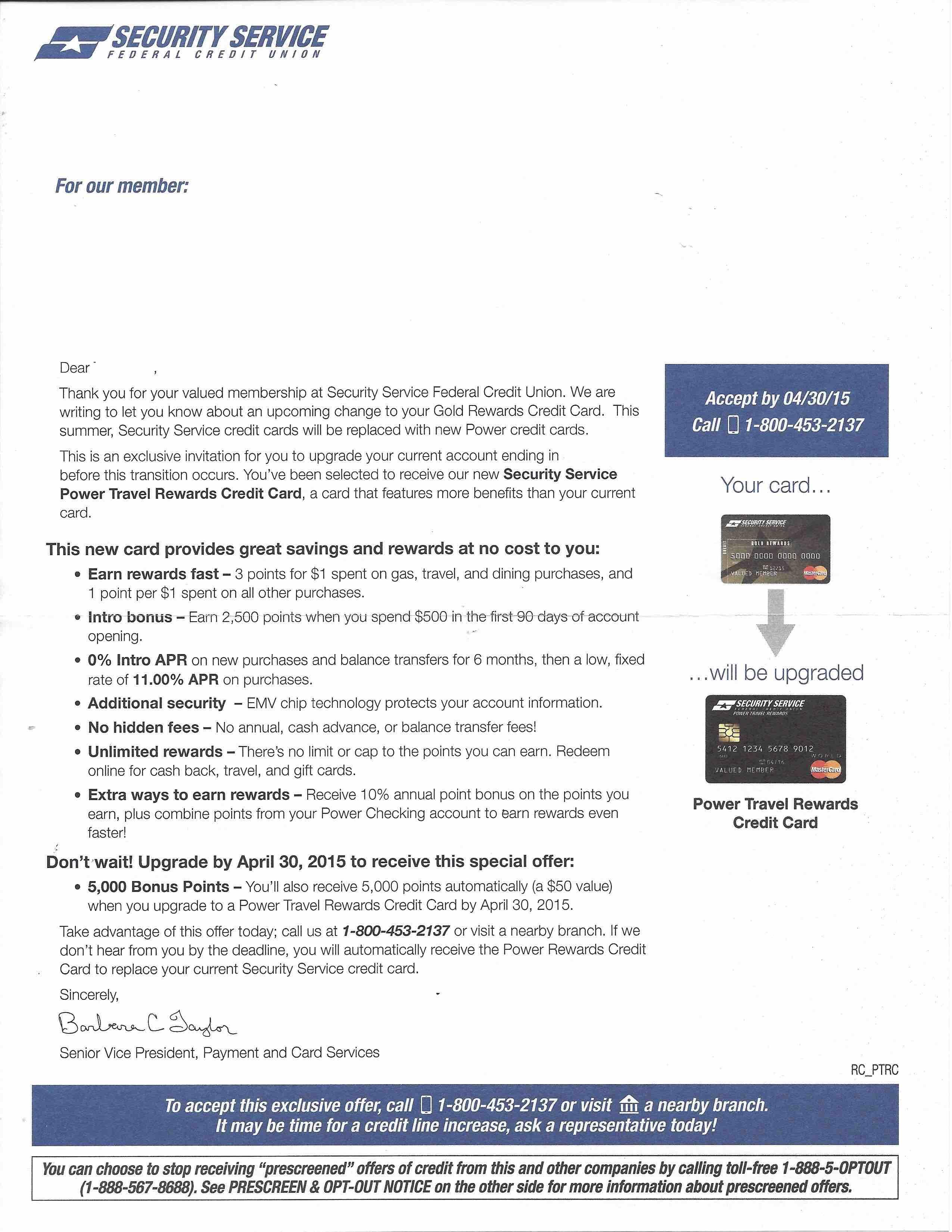 ssfcu rewards Power Travel Rewards World Mastercard Upgrade!!!! - myFICO® Forums ...