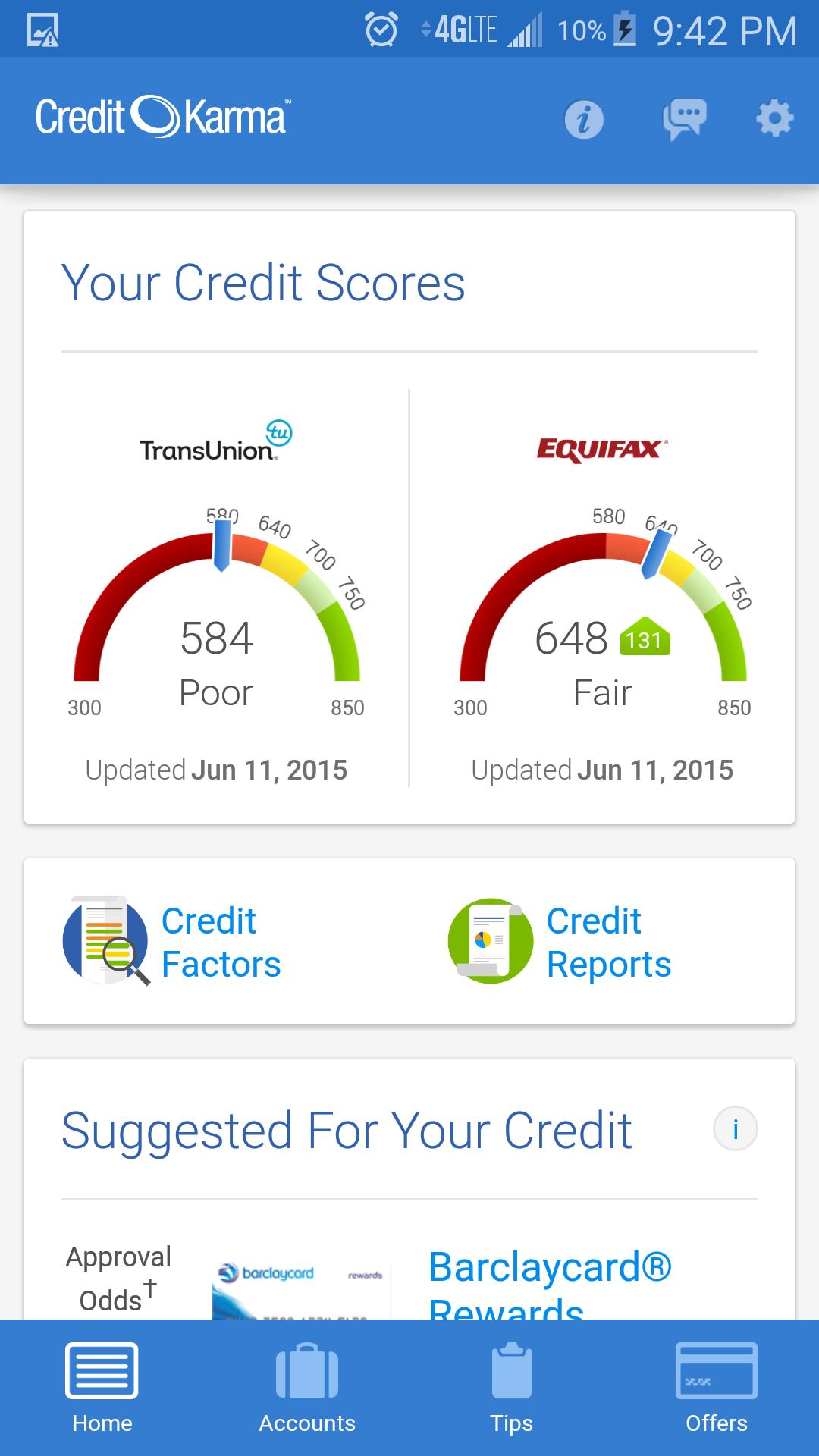 131 point jump on Credit Karma Can t wait on MyFi myFICO