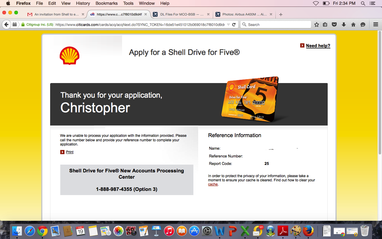 Shell Drive For Five >> Shell Drive For Five Approved Page 3 Myfico Forums 4083486