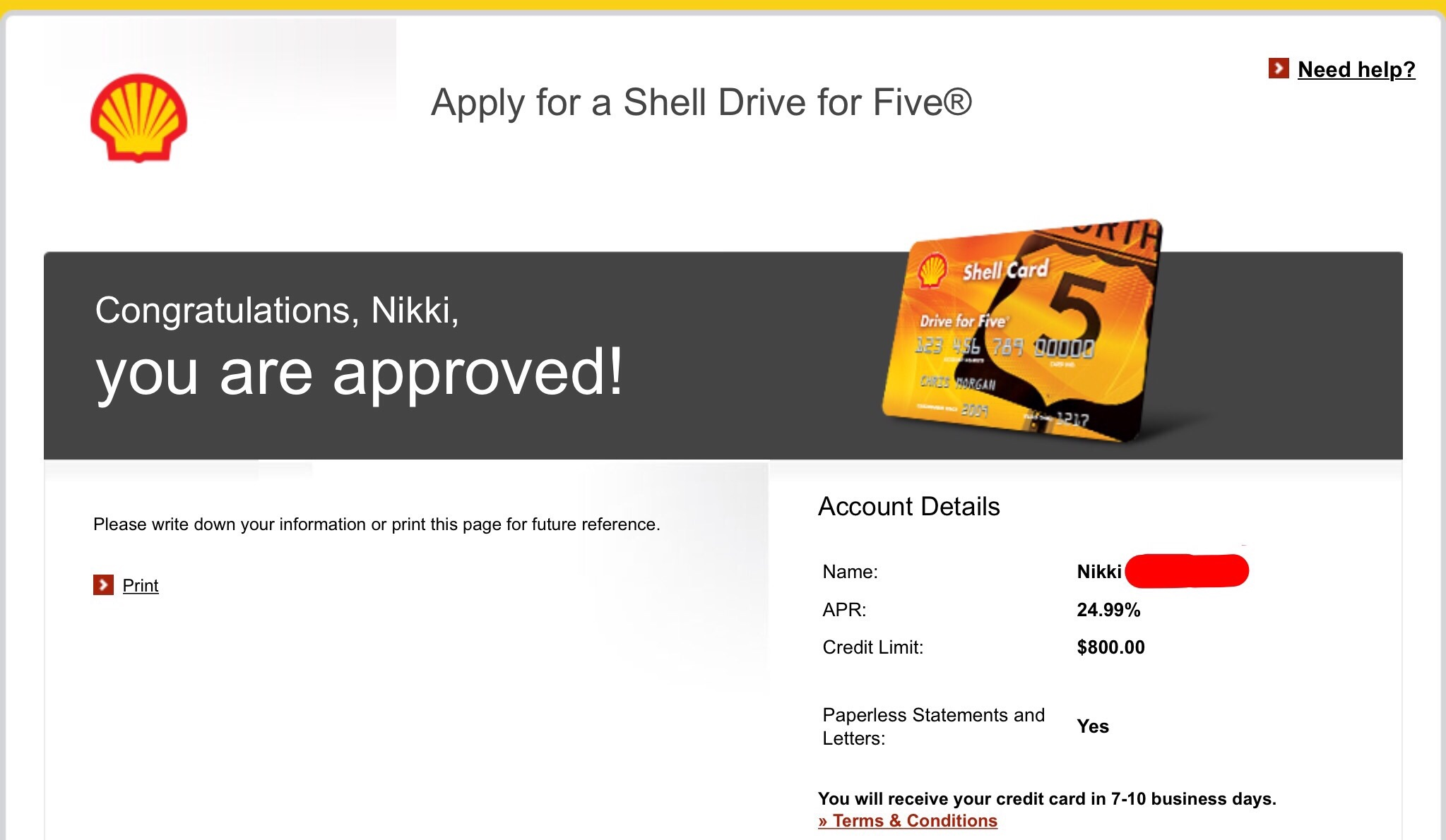 Shell Drive For Five >> Shell Drive For Five Another One In W Citigroup Myfico Forums