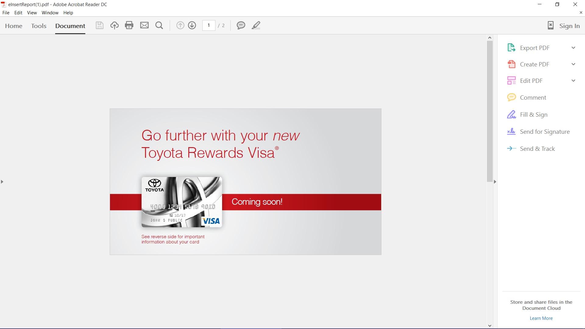 Toyota Rewards Visa enity Capital B myFICO