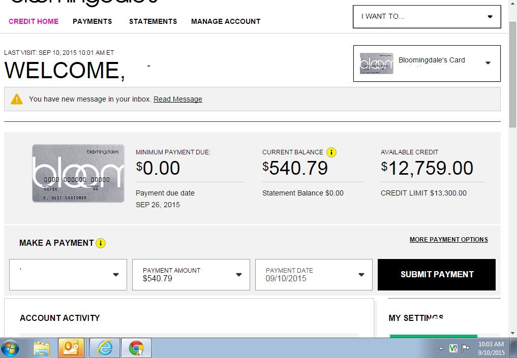 credit score approved for bloomingdales card. Black Bedroom Furniture Sets. Home Design Ideas