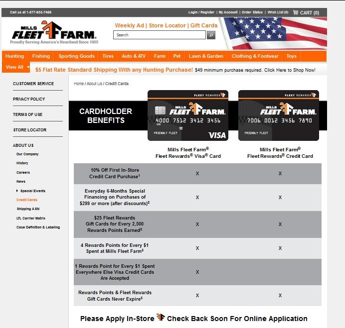 mills fleet farm credit cardsjpg - Fleet Credit Card