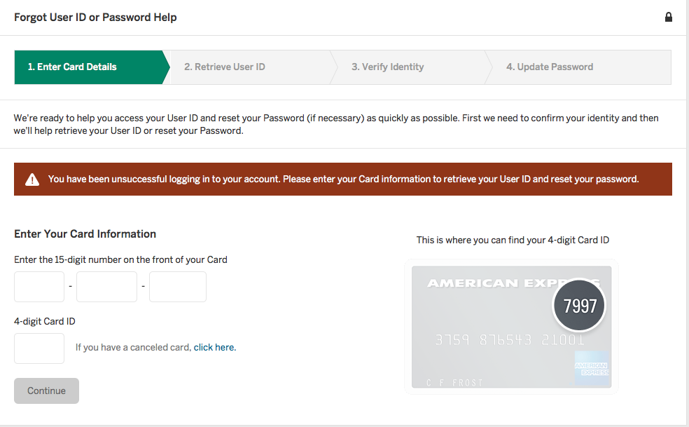 American Express Online Login