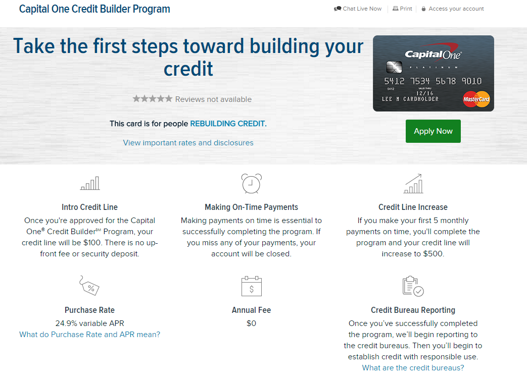 capital one builder program credit card page 2 myfico forums 4359136. Black Bedroom Furniture Sets. Home Design Ideas