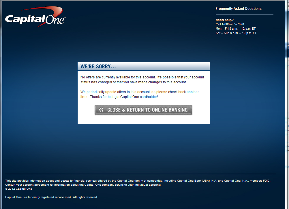 Capital One Modify Your Features Button Page 4 Myfico Forums
