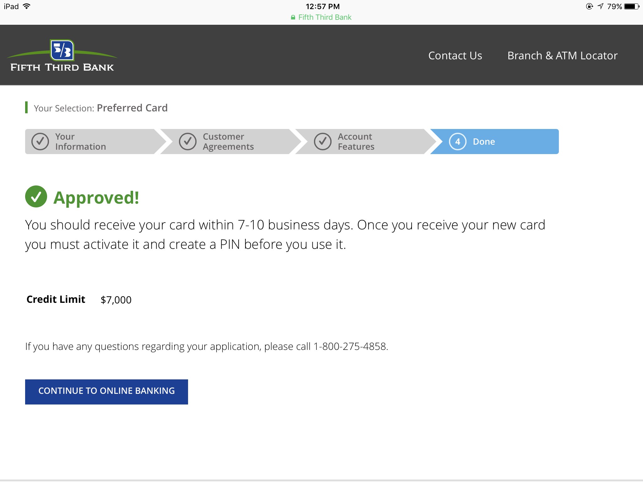 Fifth third preferred world mastercard instant app myfico the pulled tu fico 04 my score today is 761 colourmoves
