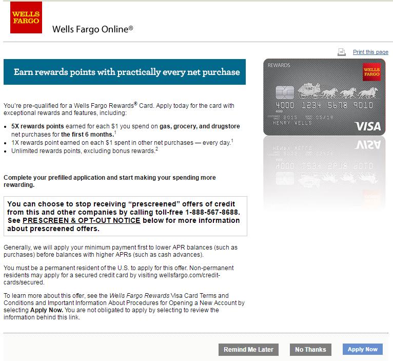 Citi Credit Card Pre Qualify >> Got A Pre Qualified Wells Fargo Offer Is It Legi
