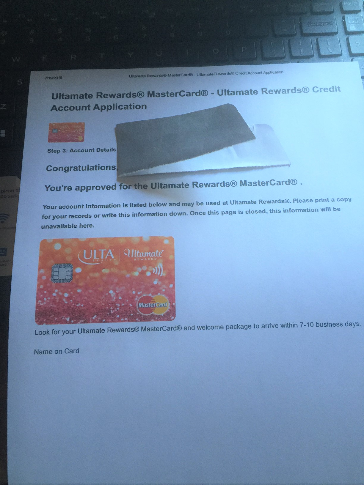 Ulta Rewards Mastercard Page 6 myFICO Forums