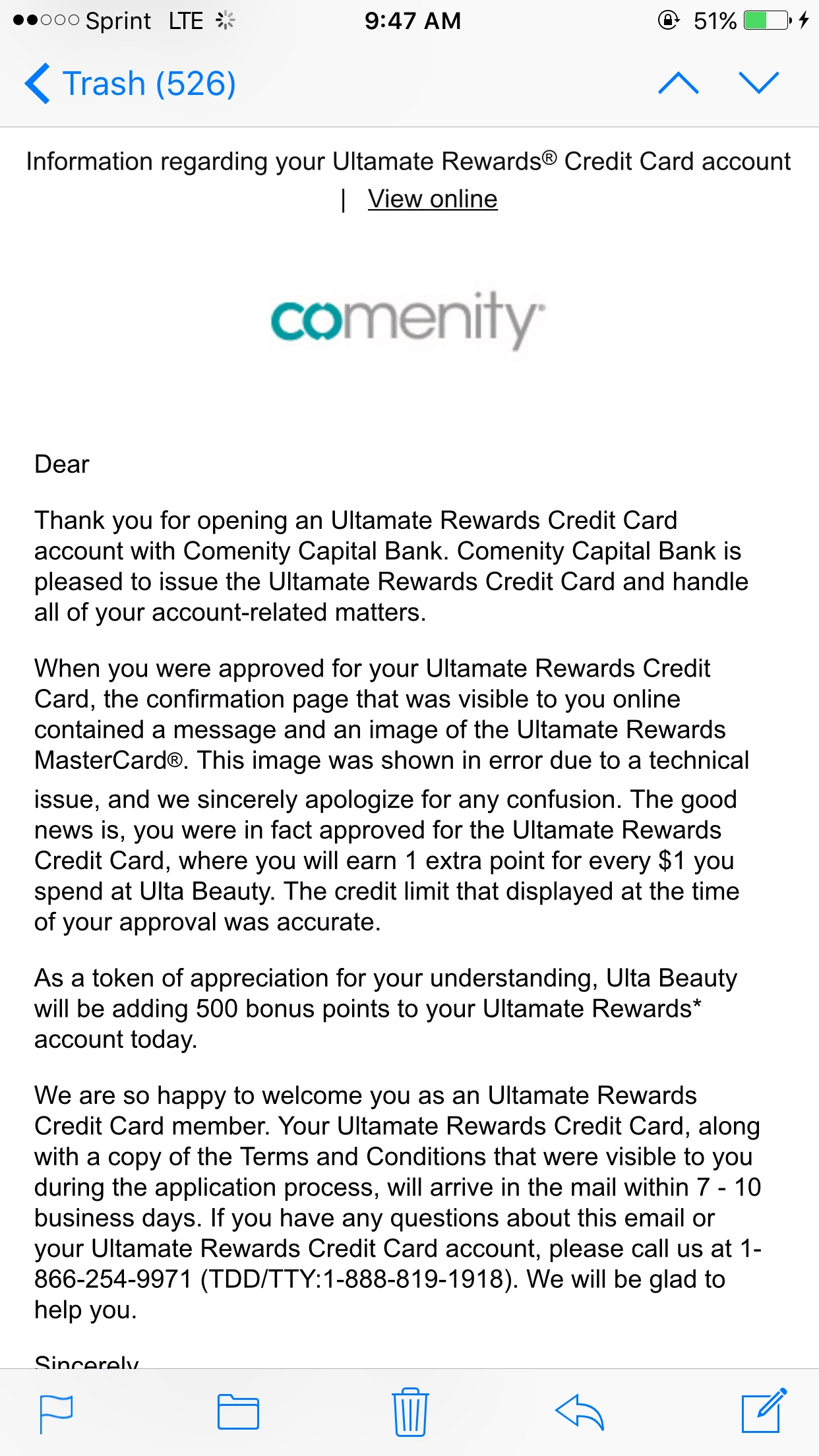 Ultamate rewards mastercard