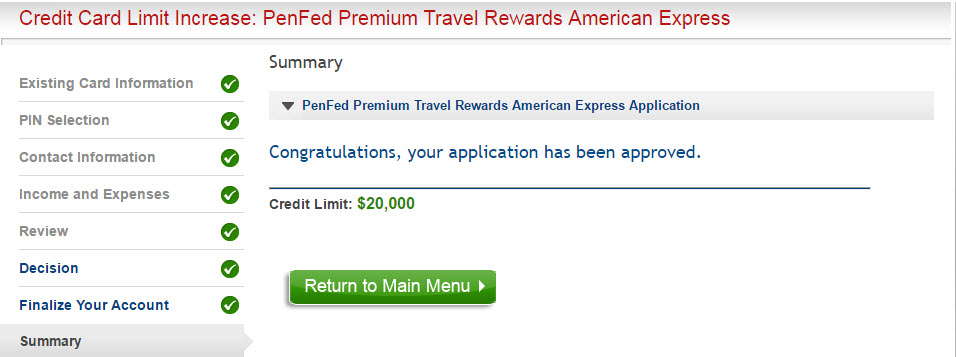 Approved 3k cli on penfed premium travel rewards myfico penfedg freerunsca Image collections