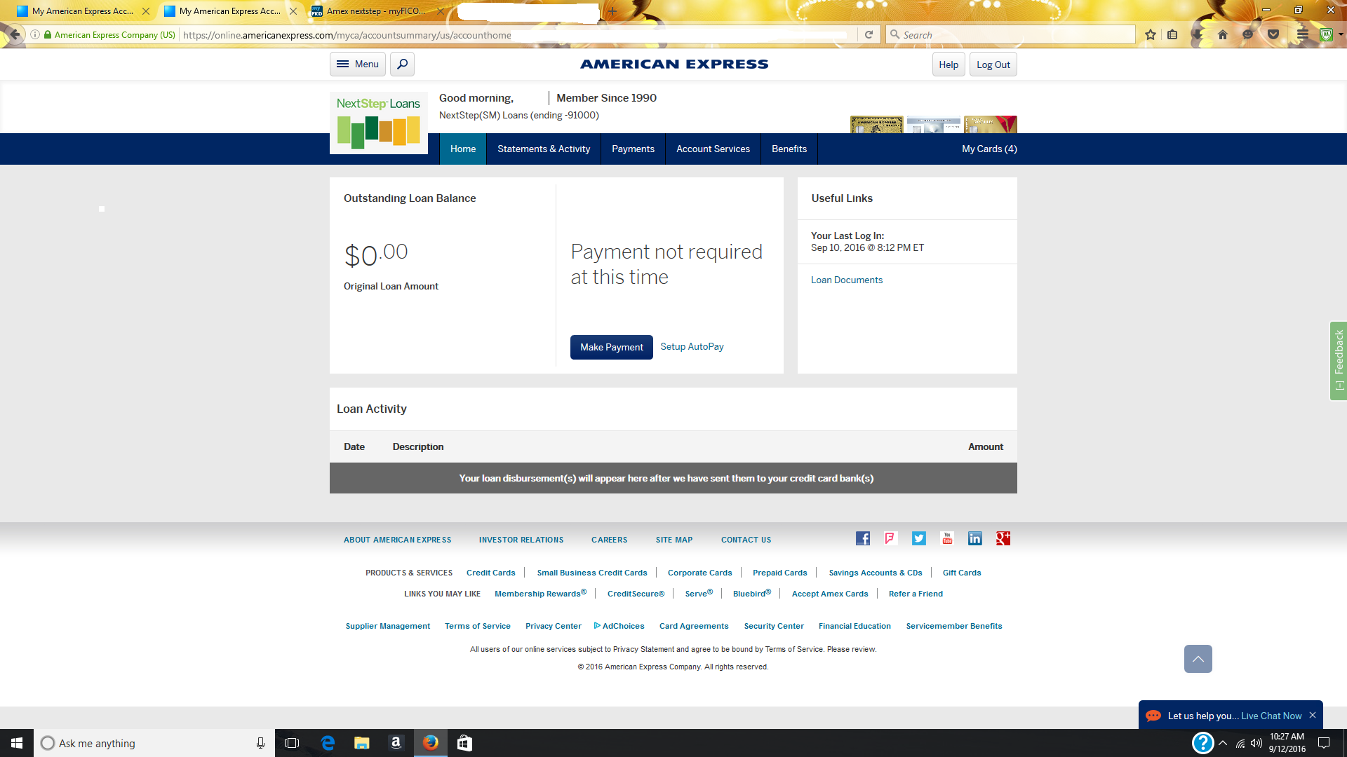 American Express Loans >> Amex Nextstep Page 6 Myfico Forums 4745247