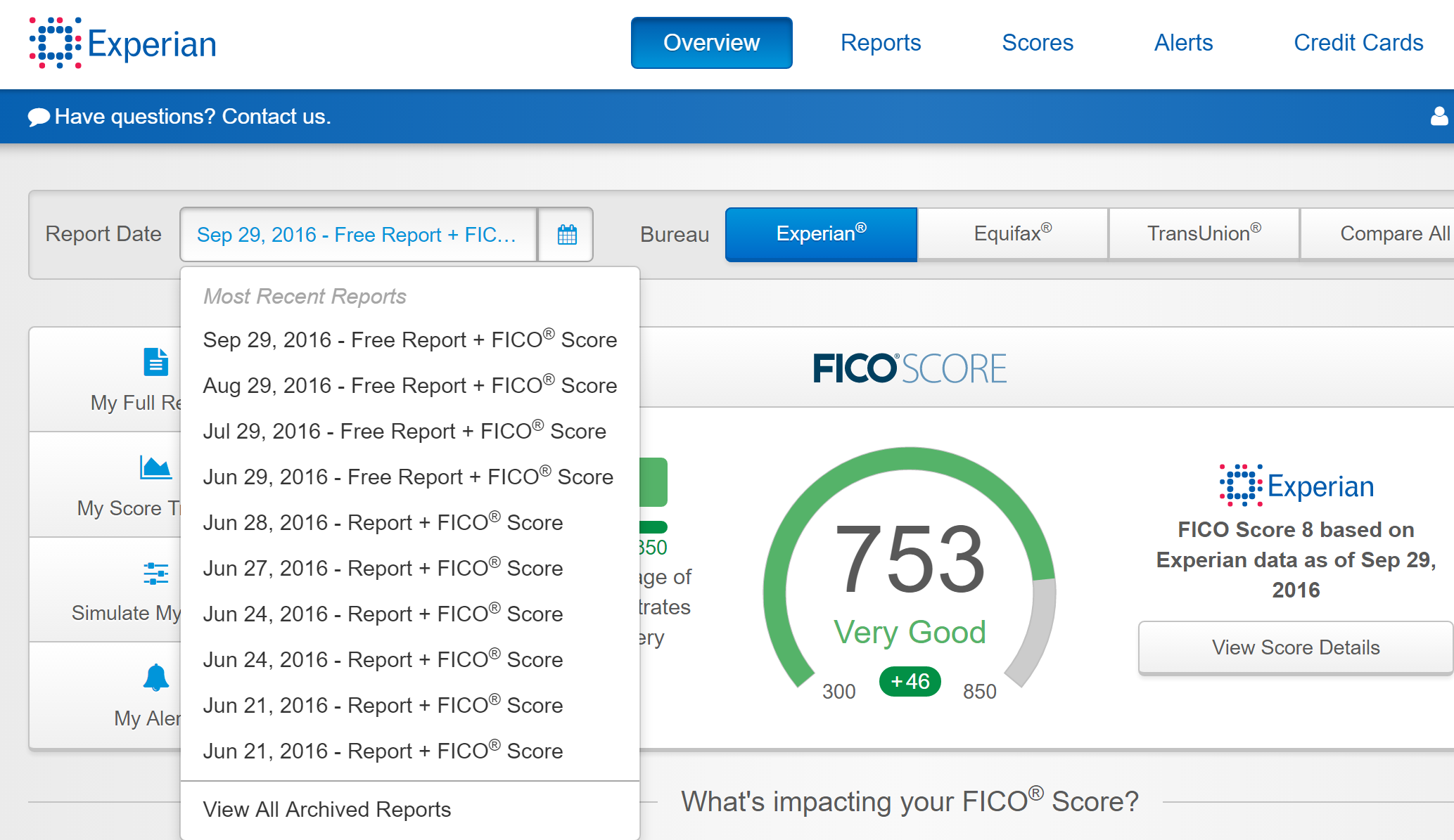 Experian.com free credit report is awesome! - myFICO ...