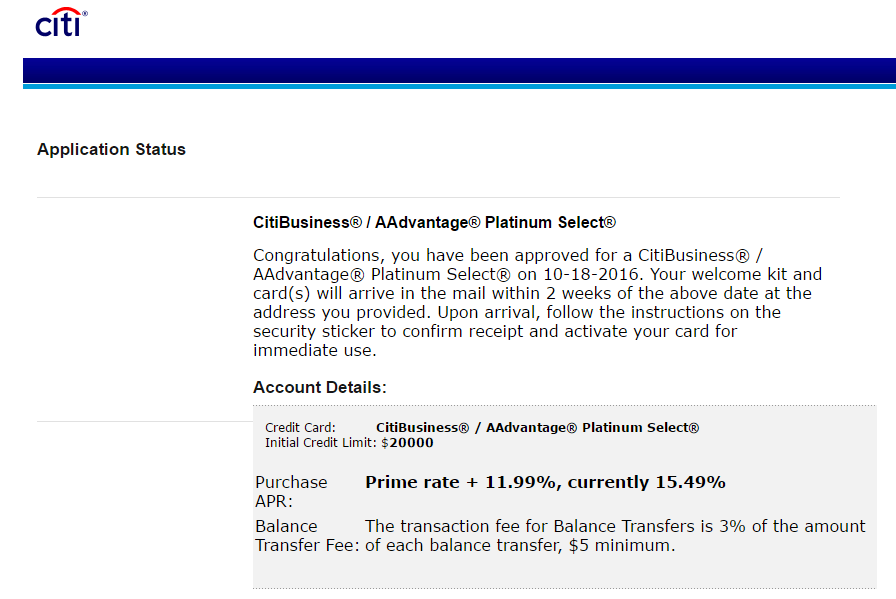 Approved for citibusiness aadvantage platinum sele myfico citi approvalg reheart Images