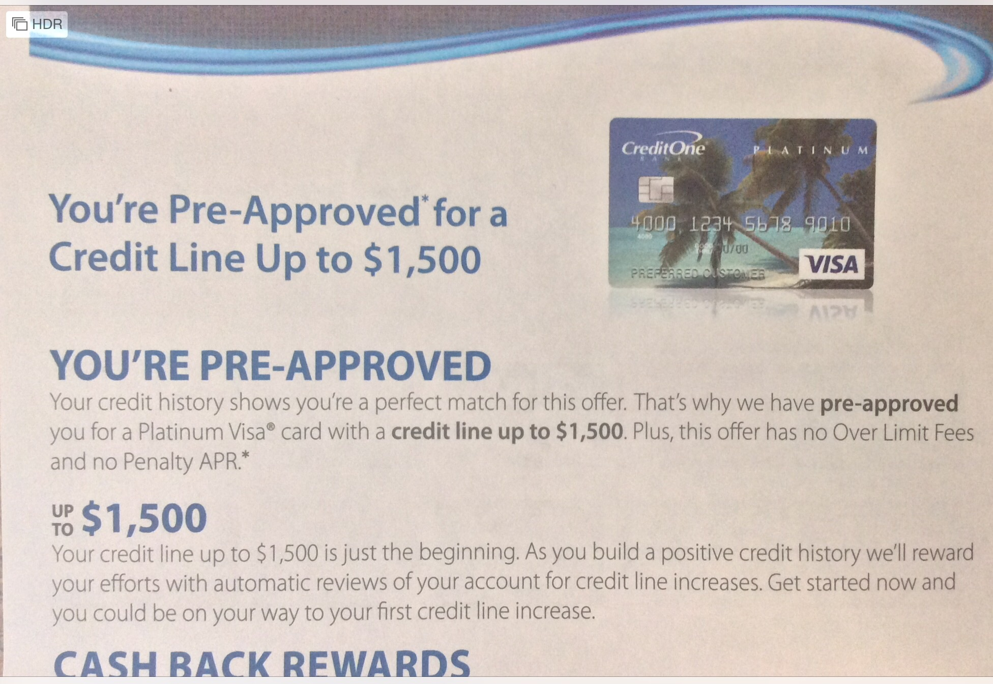 Credit One Pre Approval >> Got Ths Gem Of A Preapproval Today Myfico Forums 4803191