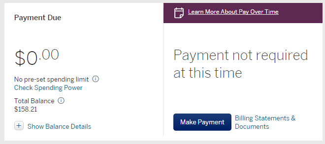 7f0f1bf80 Amex Pay Over Time  - myFICO® Forums - 4907644