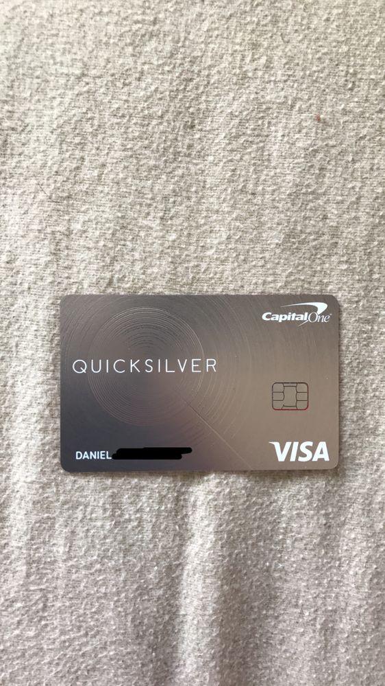capital one quicksilver credit card application займет 37 минут