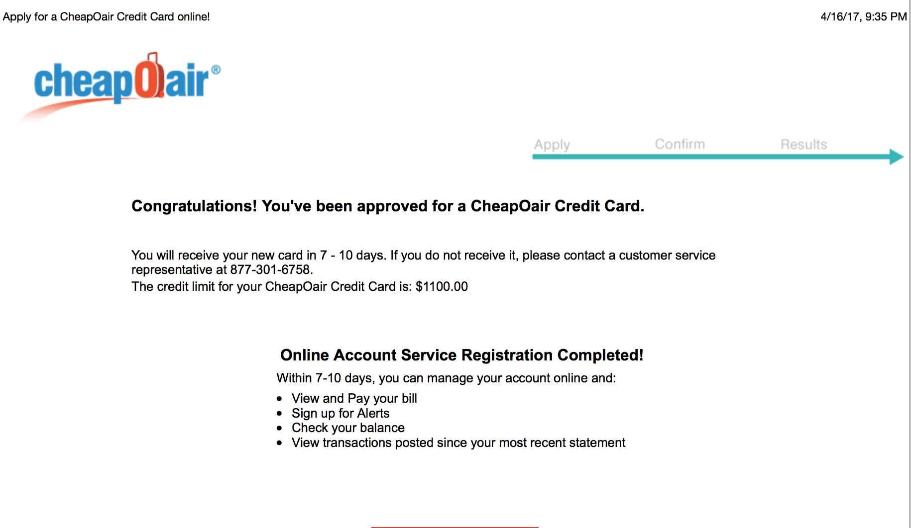 CheapOair Credit Card Synchrony Bank SYNCB myFICO Forums