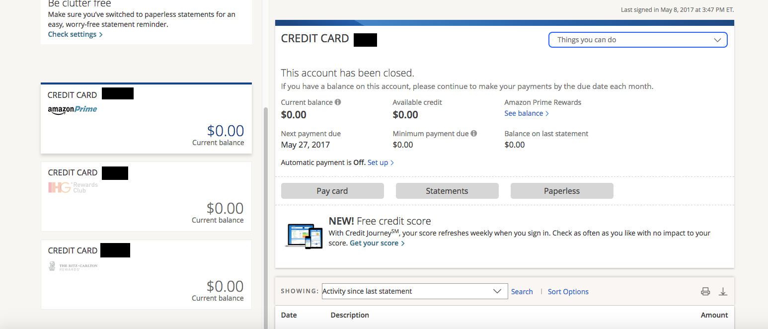 how to cancel my chase credit card account