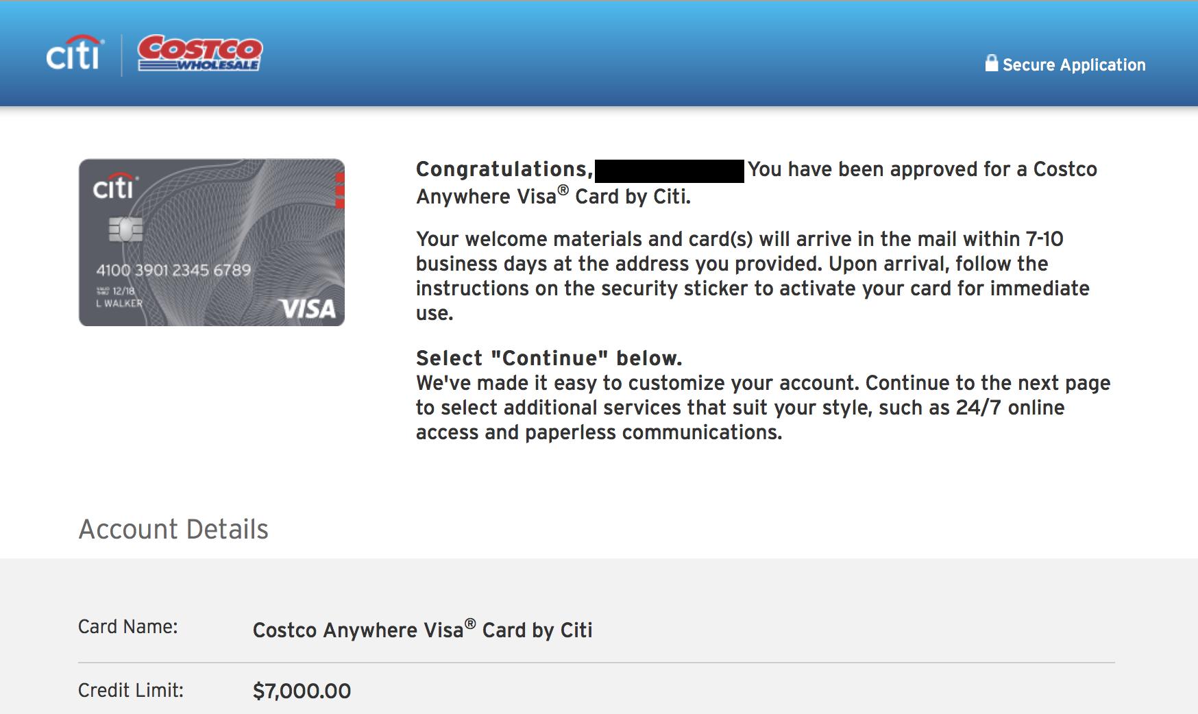 Citi Costco Visa Card Account Login
