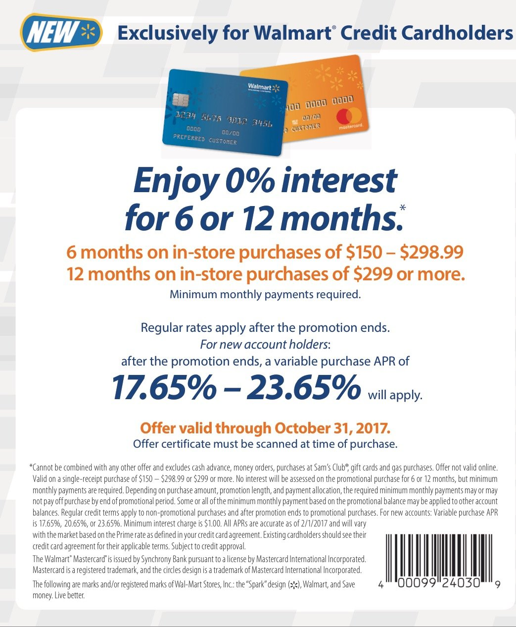 Walmart No Credit Check Financing >> Walmart Approved Myfico Forums 4954146