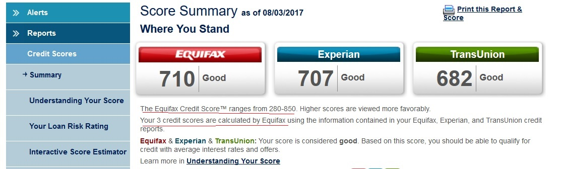 Equifax Credit Report >> Equifax Complete Premier Score 4 95 30 Day Trial Myfico Forums