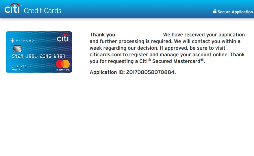 Citibank Credit Card Application Status >> Is This A No Citi Secured Card Myfico Forums 5017038