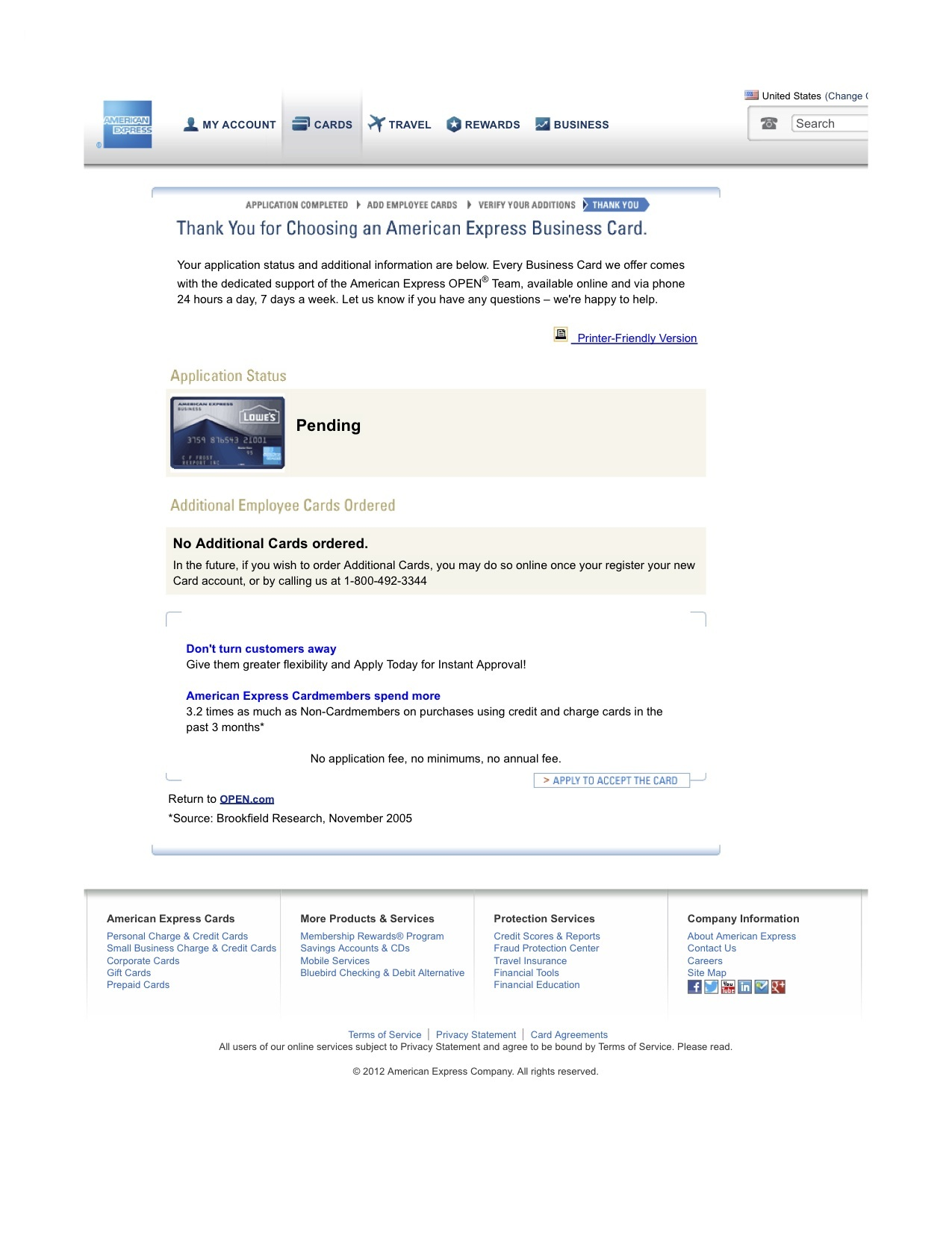 Just GOT Approved for American Express Lowe\'s Busi... - myFICO ...
