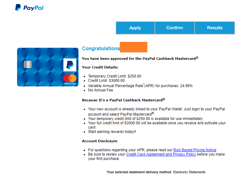 Paypal 2% Mastercard now publicly available - Page 14 - myFICO