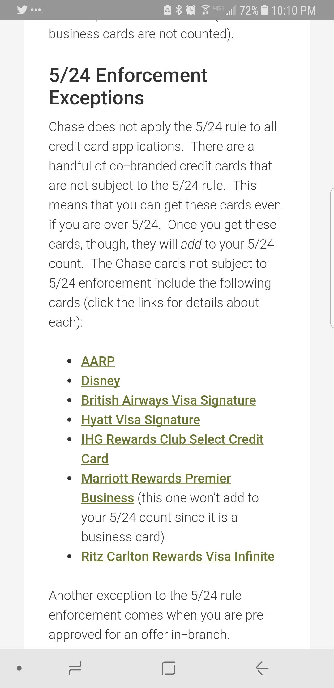 Chase 5/24 and preapprovals/cards not counted. - myFICO® Forums ...