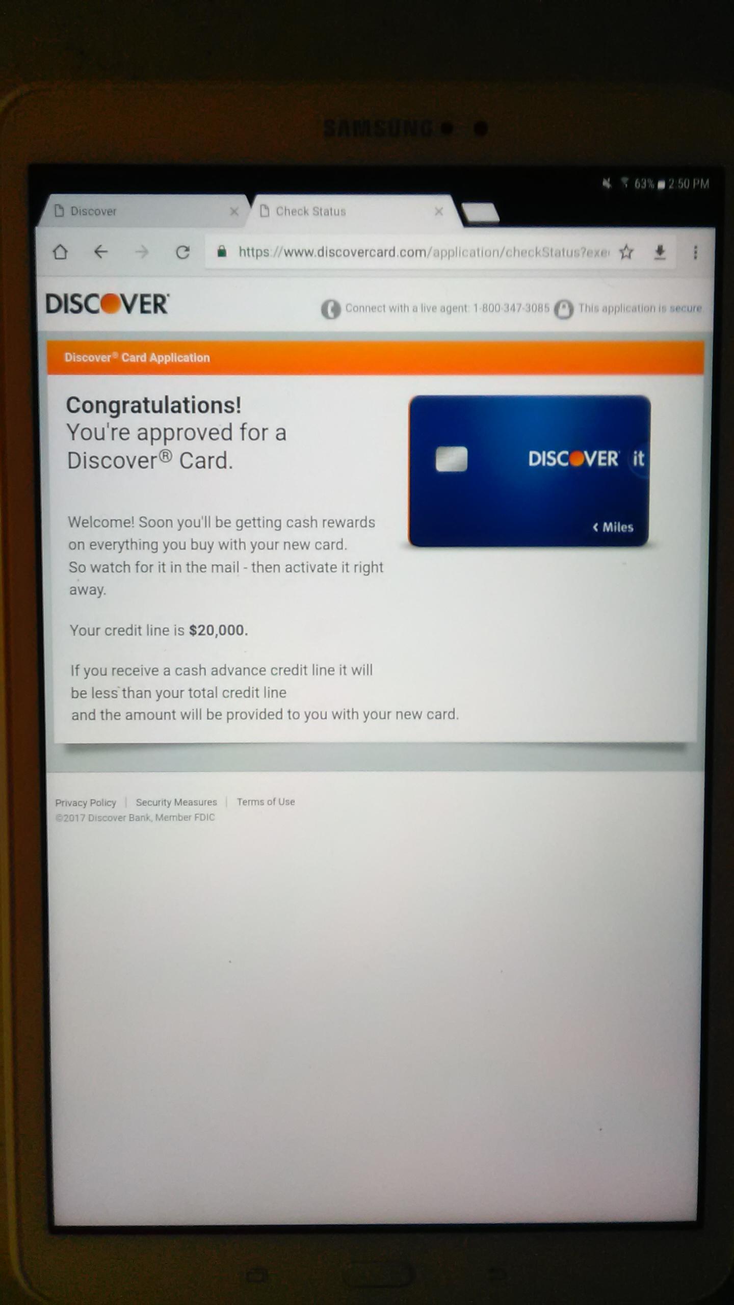 Discover Card Application Status - DownloadMeta