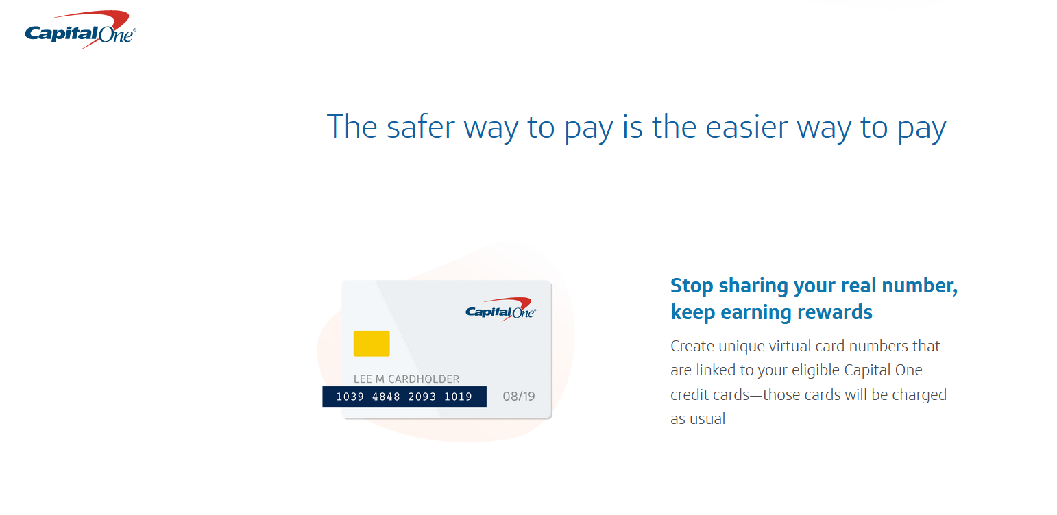 Capital one credit card number without card
