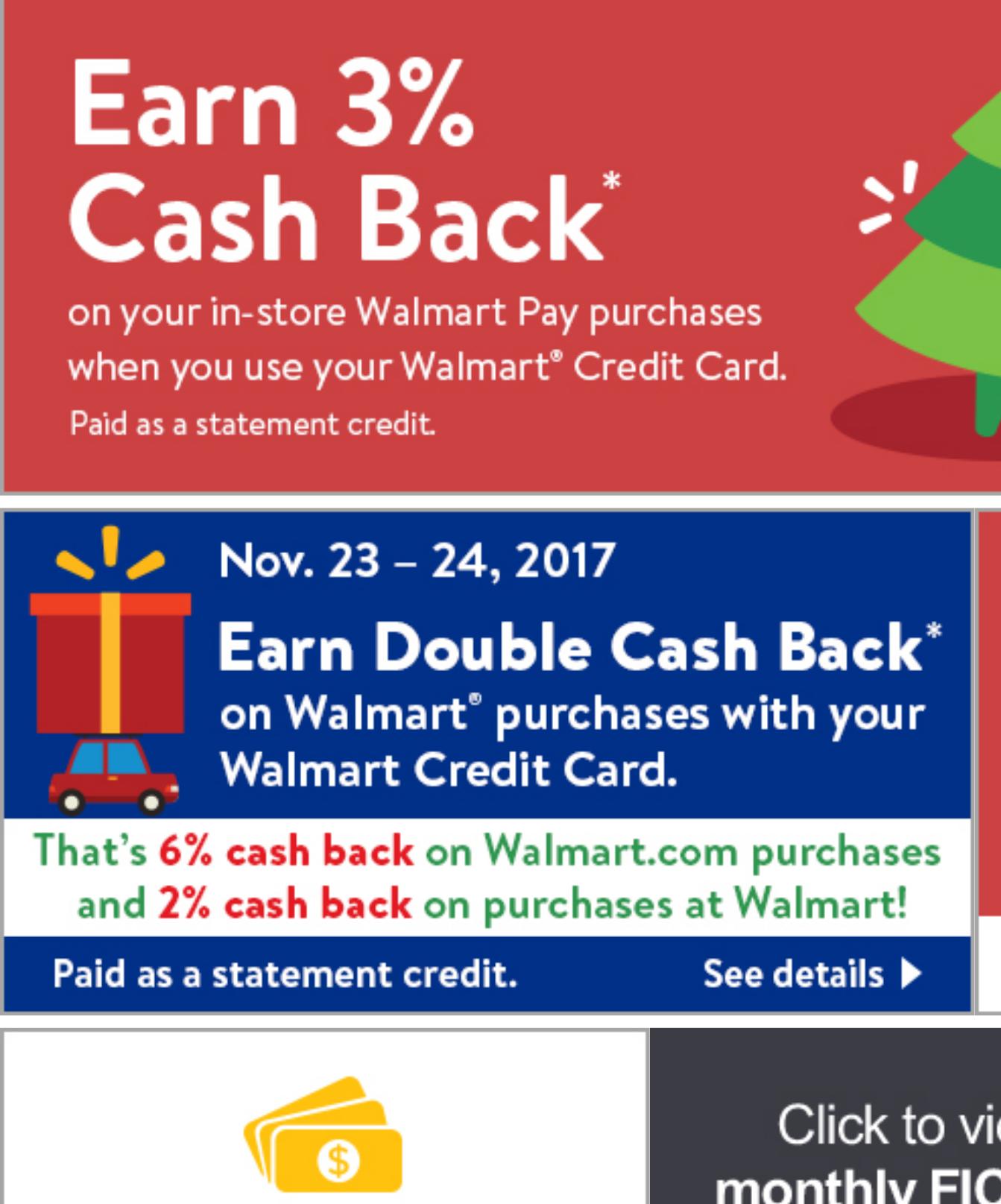 Walmart Mc 6% Cash Back Offer On Walmart.com