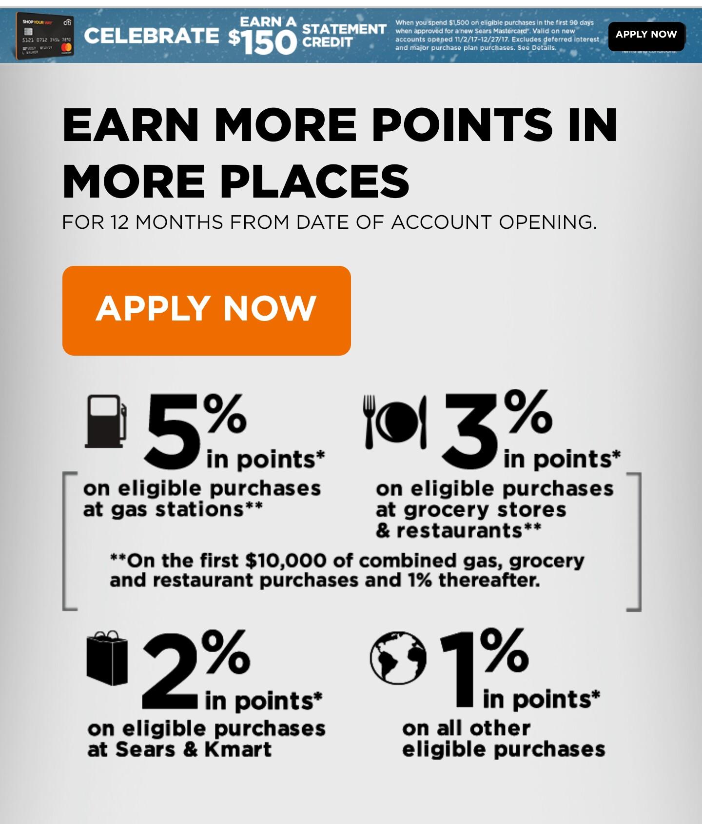 Citi Shop Your Way (Sears) Card?