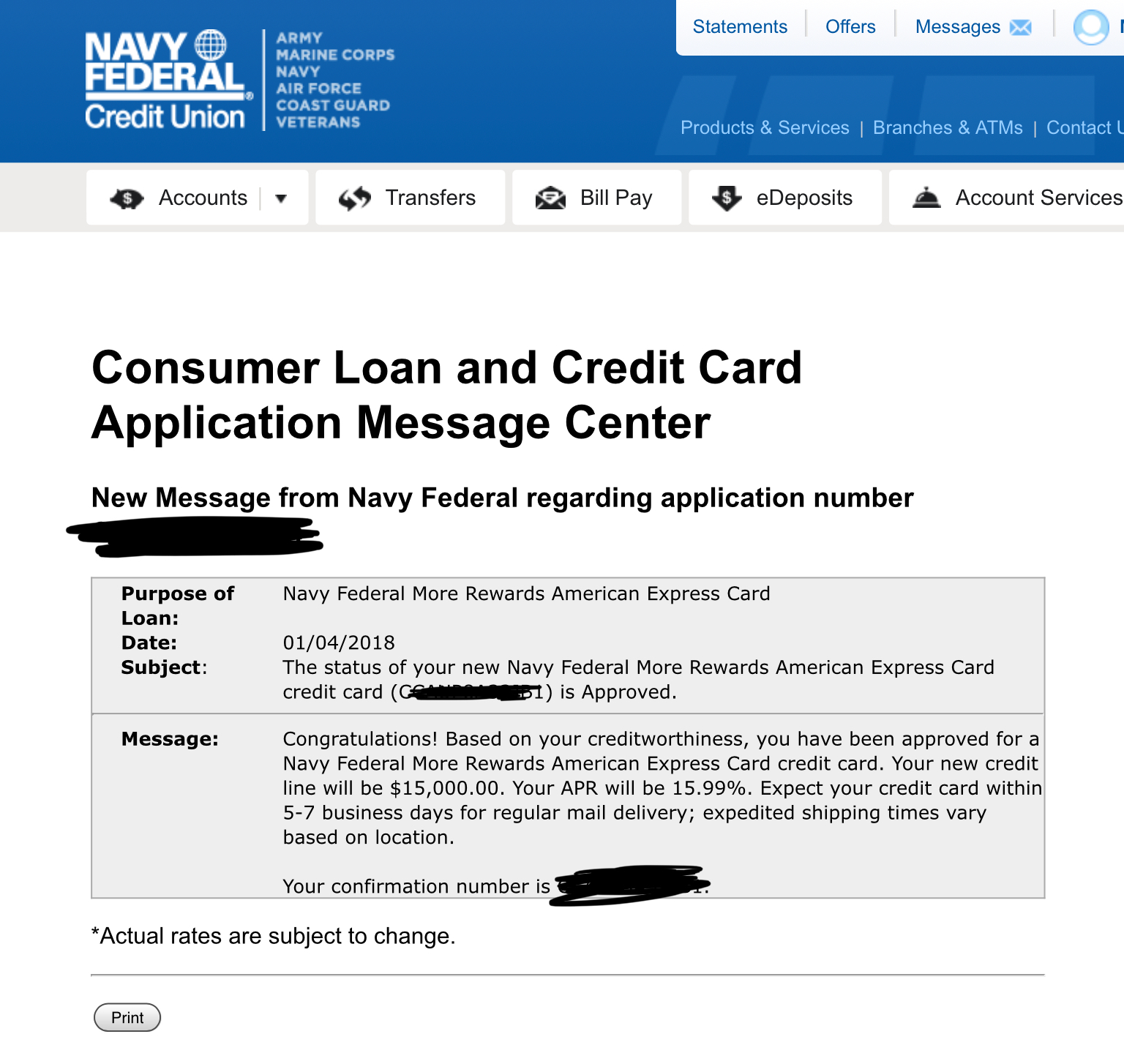 NFCU More Rewards AMEX approved. Stay positive. - myFICO® Forums - 5129326