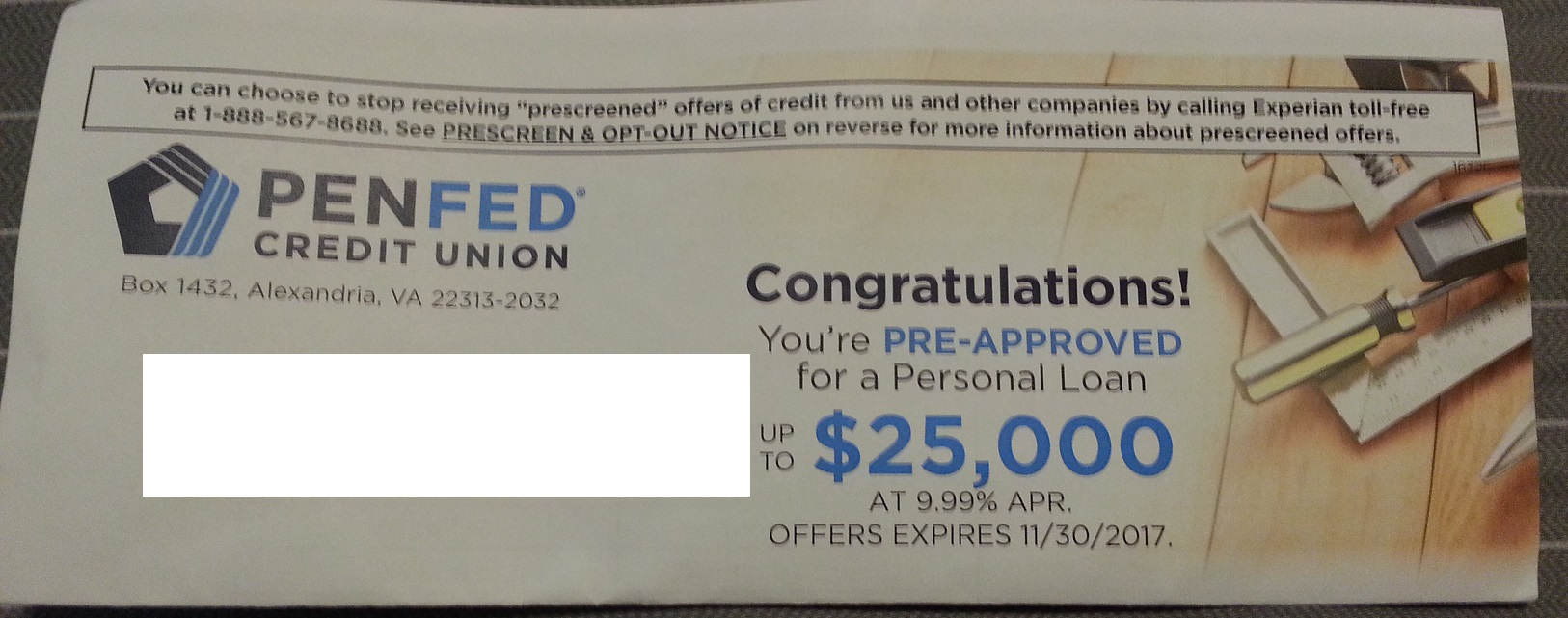 2nd PenFed Preapproval For Personal Loan in 9 Mont