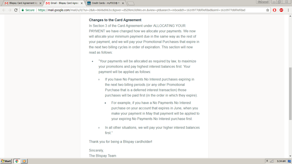 Blispay Card Agreement Update Myfico Forums 5140787