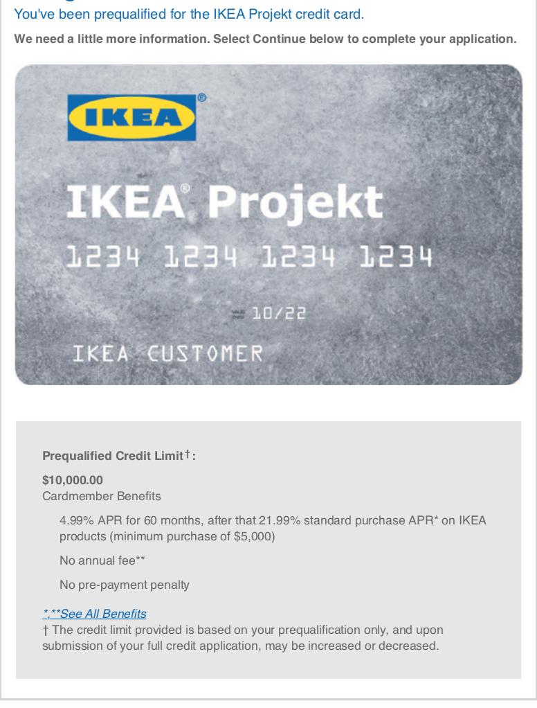 Ikea Credit Card Apply Online