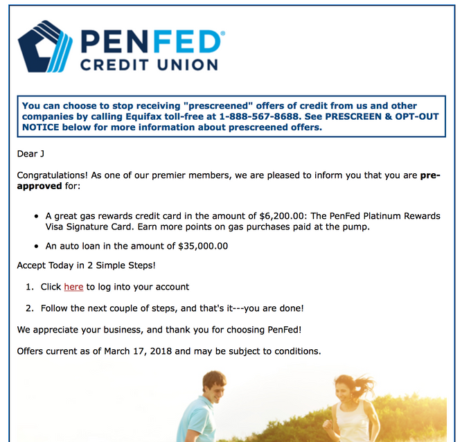 PenFed Pre-Approvals Posted - myFICO® Forums - 5196428
