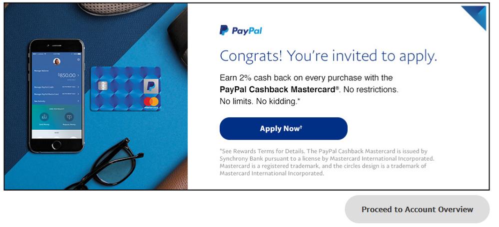 Ebay Mastercard Login >> Invitation For Paypal Mastercard Myfico Forums 5206014