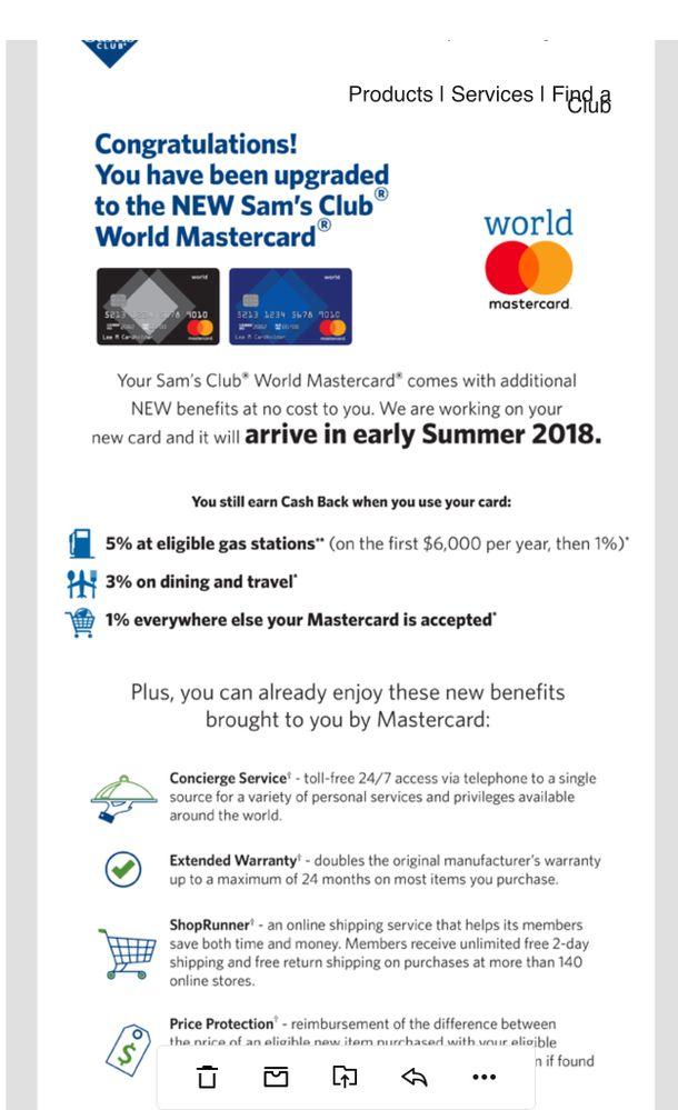 Sam\'s/sync DC MC upgrading to World Mastercard - myFICO® Forums ...