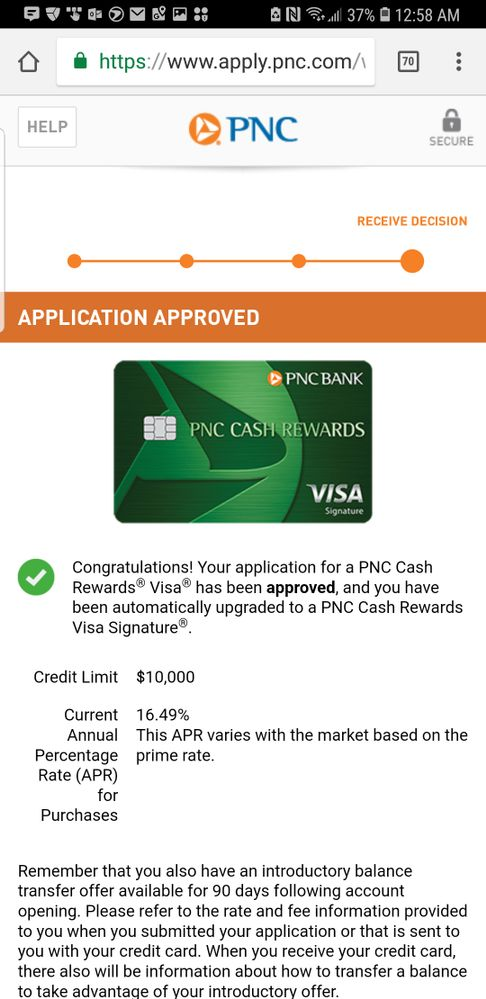 PNC Cash approval  - myFICO® Forums - 5238205