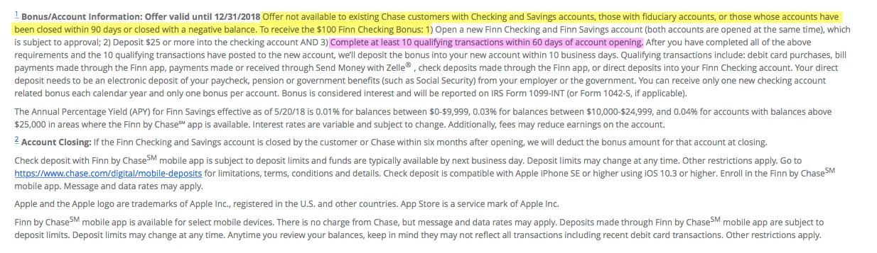 Chase Offers/Finn Checking Customers - Page 2 - myFICO® Forums - 5283039