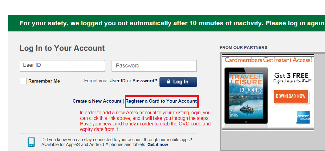 Am Ex Login >> Possible To See 2 Amex Accounts In One Log In Myfico Forums