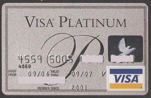 providian visa platinum 2jpg - Metal Visa Card