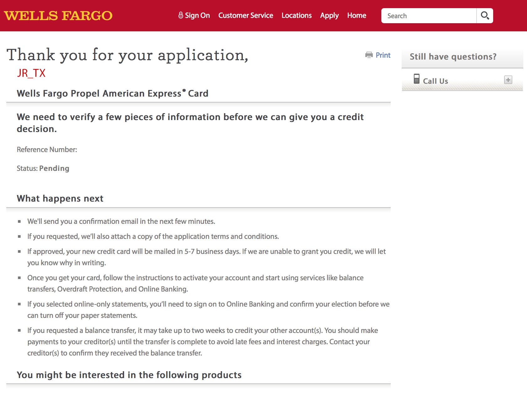 Wells Fargo Propel Amex Denial Update Myfico Forums 5307666