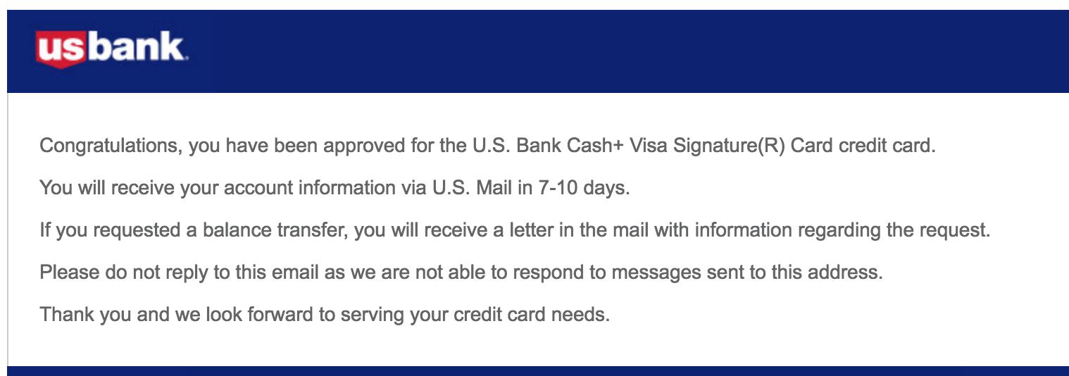 U S  Bank Cash+ Visa Sig Approved - myFICO® Forums - 5319298