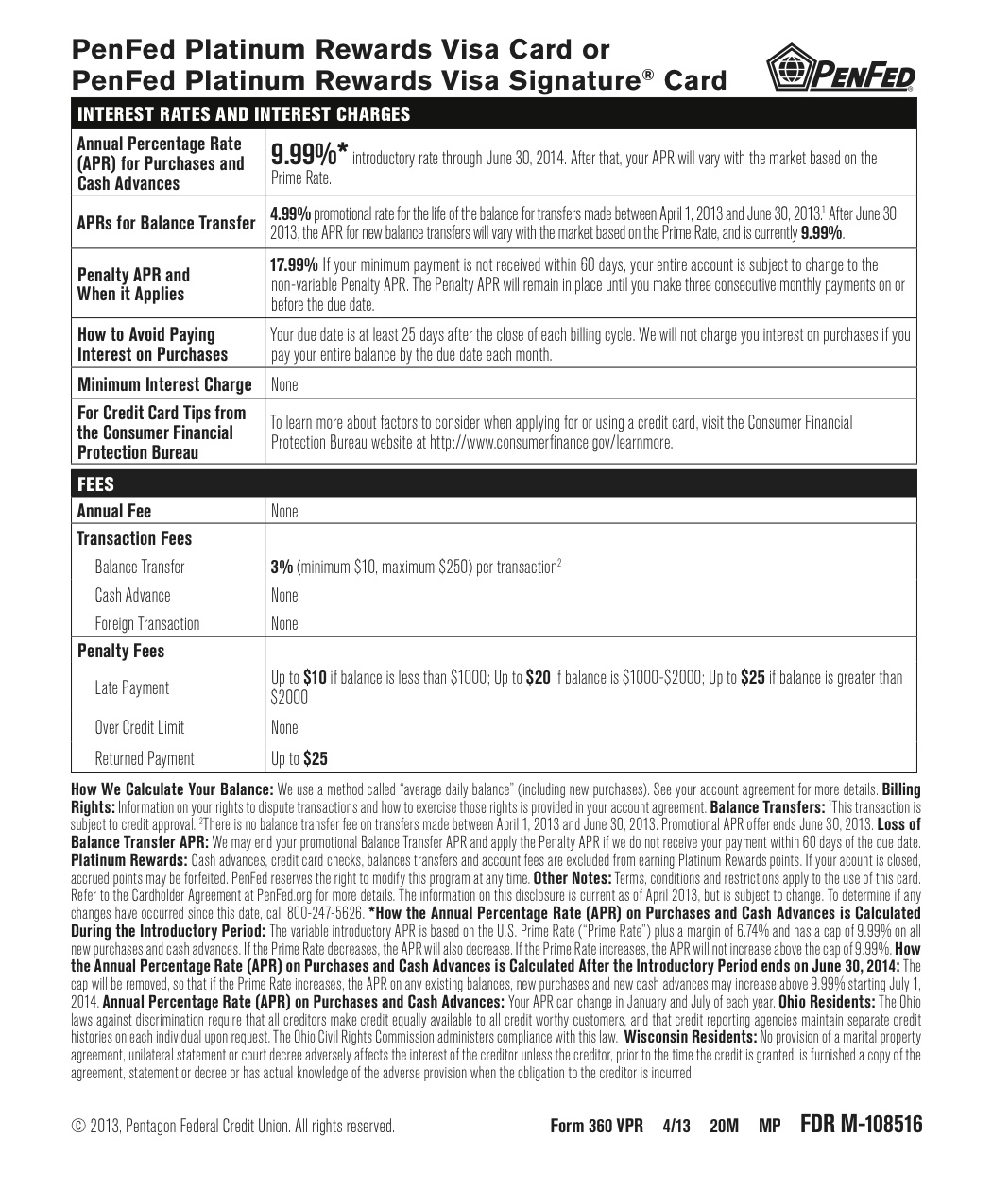 bank of america signature card form