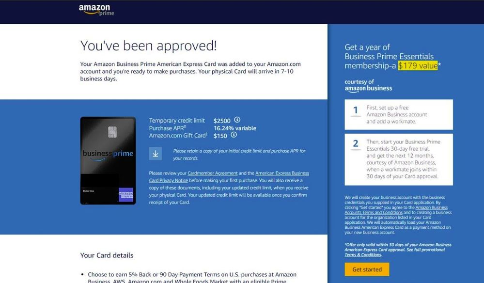 American Express Amazon Business Prime Myfico Forums 5420412